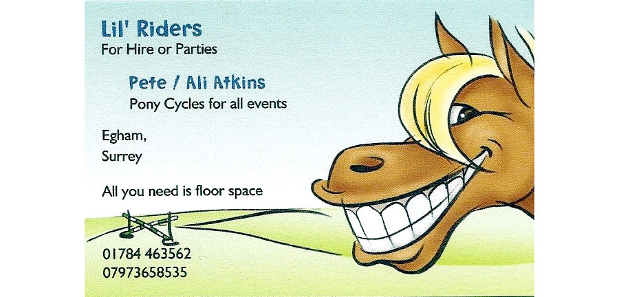 Lil'Riders business card